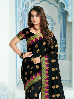 Silk Woven Black Classic Saree