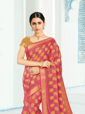 Silk Woven Contemporary Saree