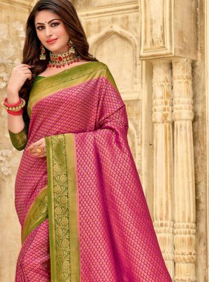 Silk Woven Purple Classic Designer Saree