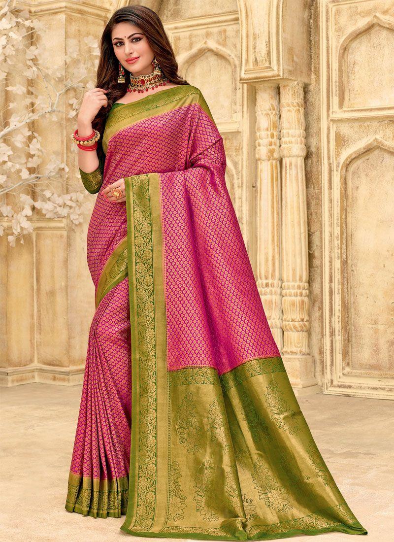 Silk Woven Purple Classic Designer Saree
