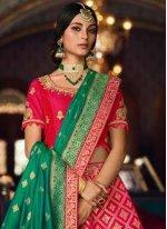 Silk Zari Hot Pink Designer Lehenga Choli