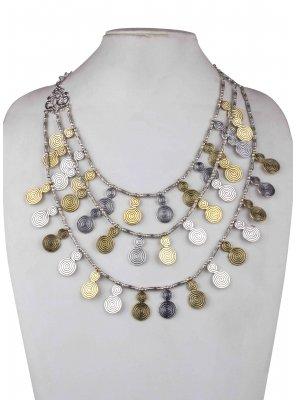 Silver Ceremonial Necklace Set