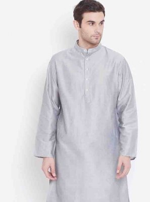Silver Printed Party Kurta Pyjama