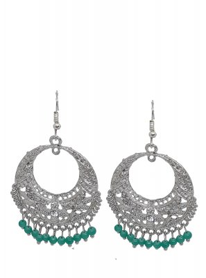 Silver Sangeet Ear Rings