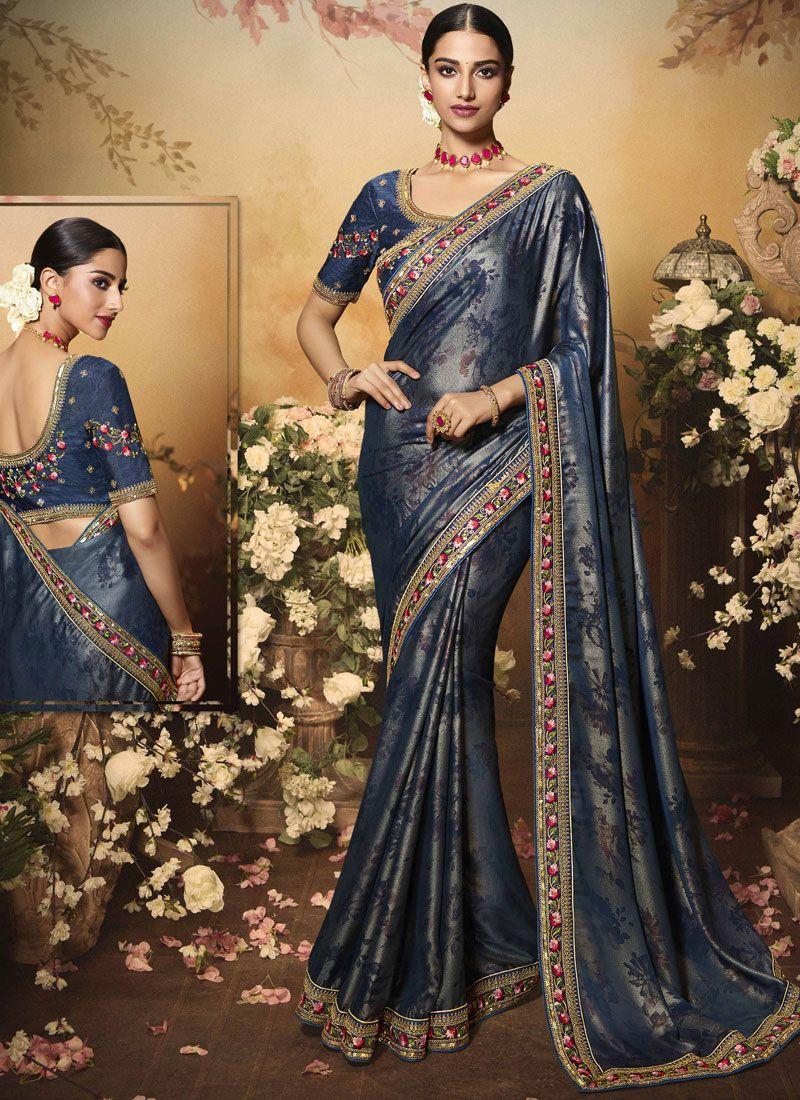 Stone Art Silk Designer Saree