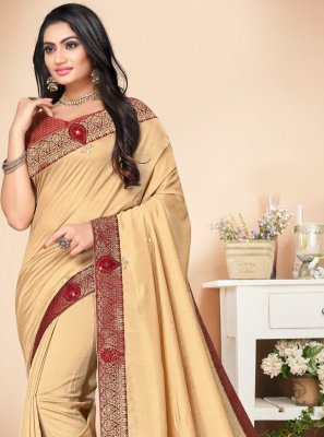 Stone Cream Trendy Saree