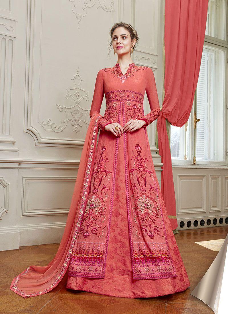 Stone Floor Length Designer Salwar Suit