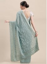 Stone Grey Traditional Saree