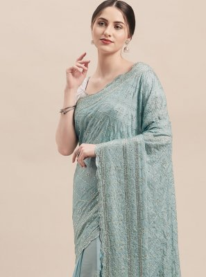 Stone Grey Traditional Saree