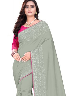 Stone Work Art Silk Designer Saree