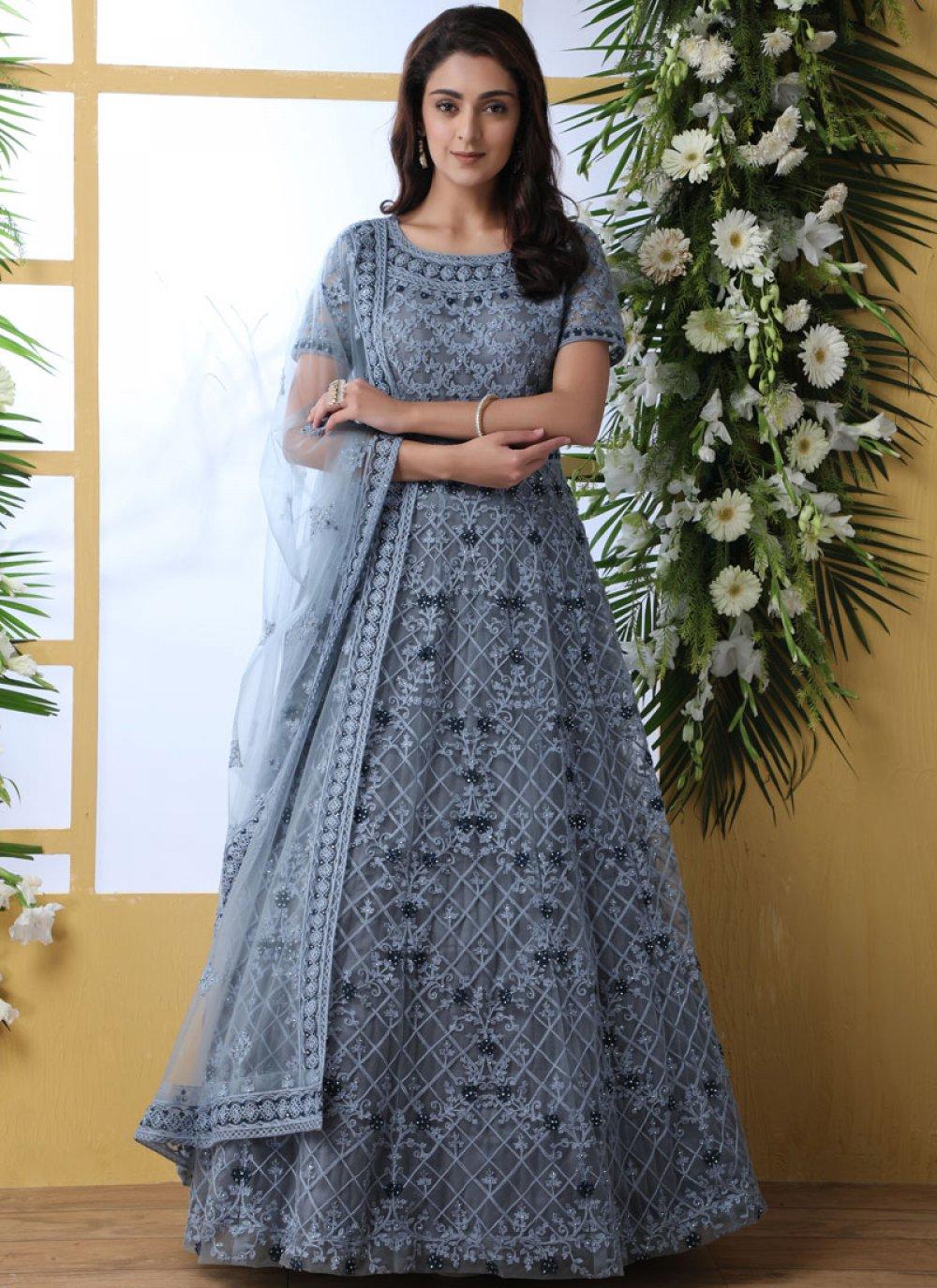 Stone Work Designer Gown