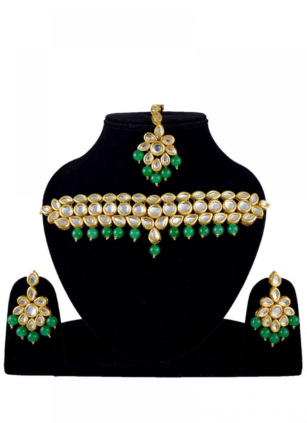 Stone Work Gold Jewellery Set