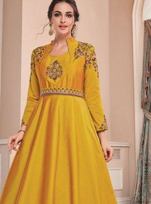 Tafeta Silk Designer Gown