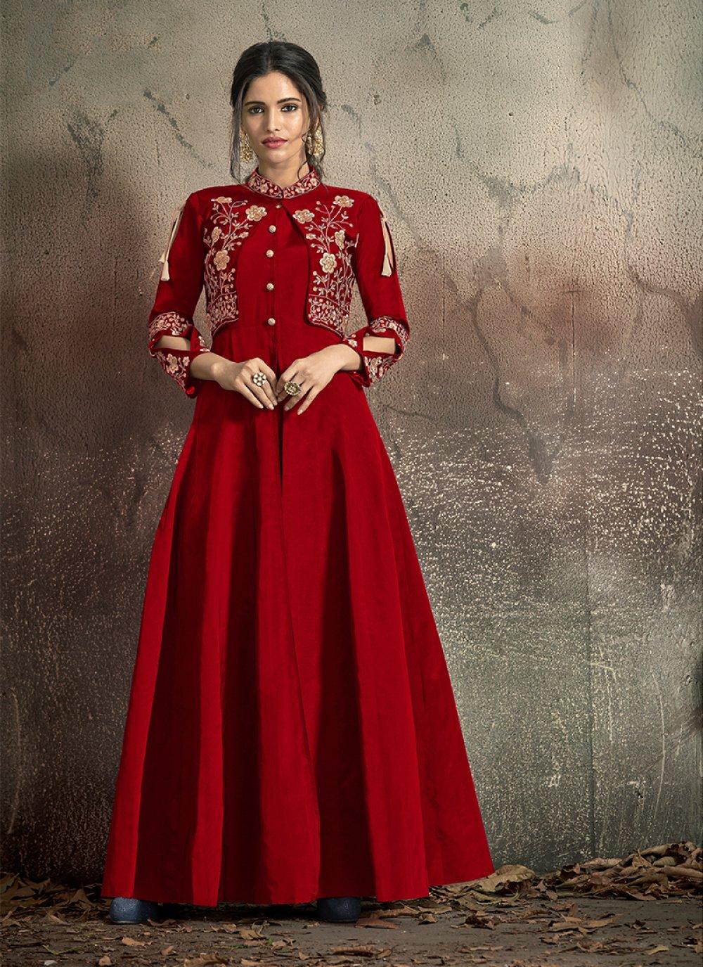 Tafeta Silk Festival Designer Gown