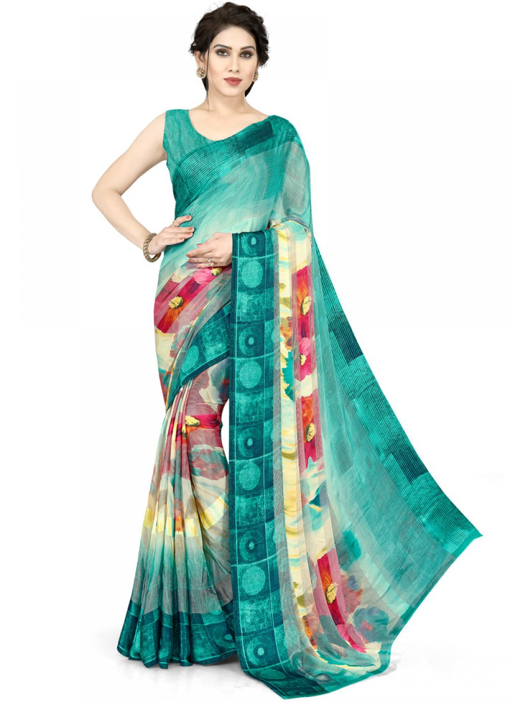 Teal Casual Saree
