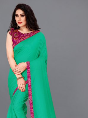 Teal Festival Silk Bollywood Saree