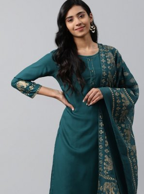 Teal Party Bollywood Salwar Kameez