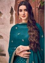Teal Reception Bollywood Salwar Kameez