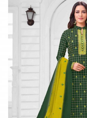 Thread Art Silk Salwar Suit
