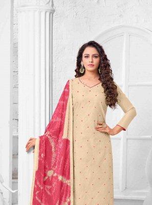 Thread Art Silk Salwar Suit
