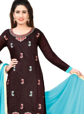 Thread Chanderi Cotton Designer Salwar Suit