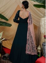 Thread Faux Georgette Designer Gown