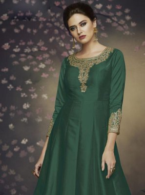 Thread Green Salwar Suit