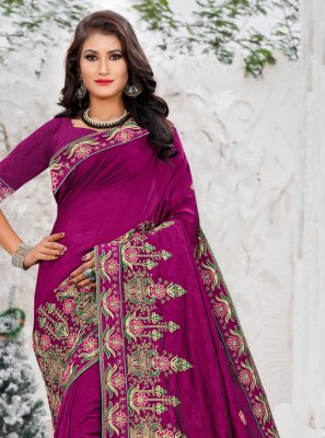 Thread Work Sangeet Designer Bollywood Saree