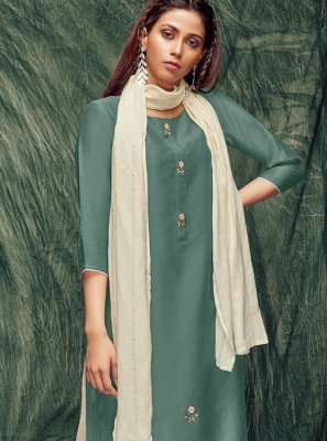 Thread Work Silk Casual Kurti
