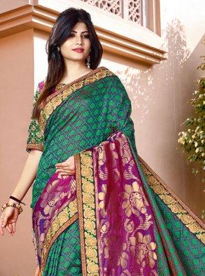 Thread Work Silk Classic Saree