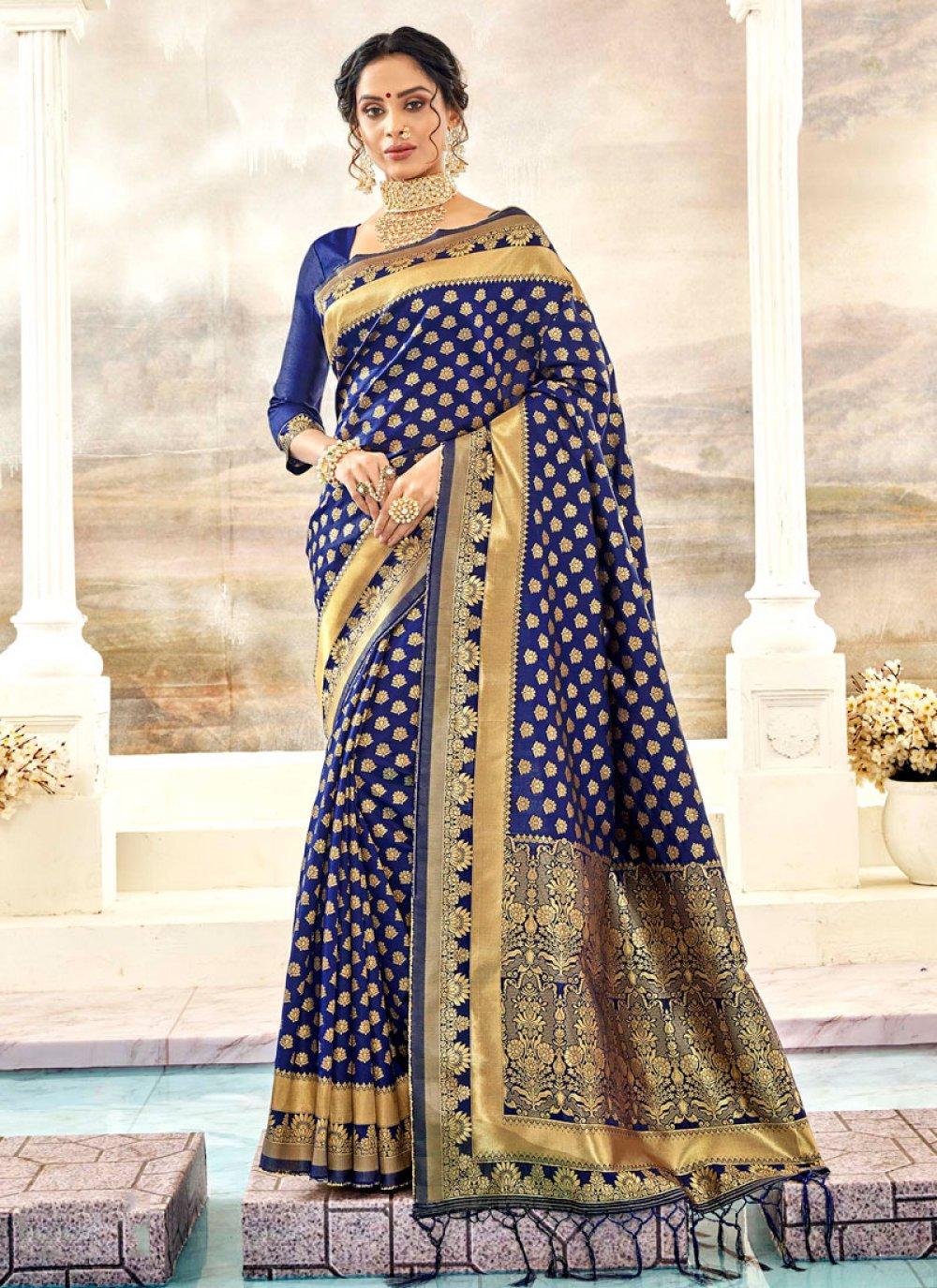 Thread Work Silk Silk Saree