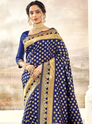 Thread Work Silk Silk Saree