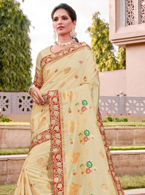 Thread Work Silk Traditional Designer Saree