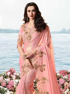 Tissue Pink Classic Saree