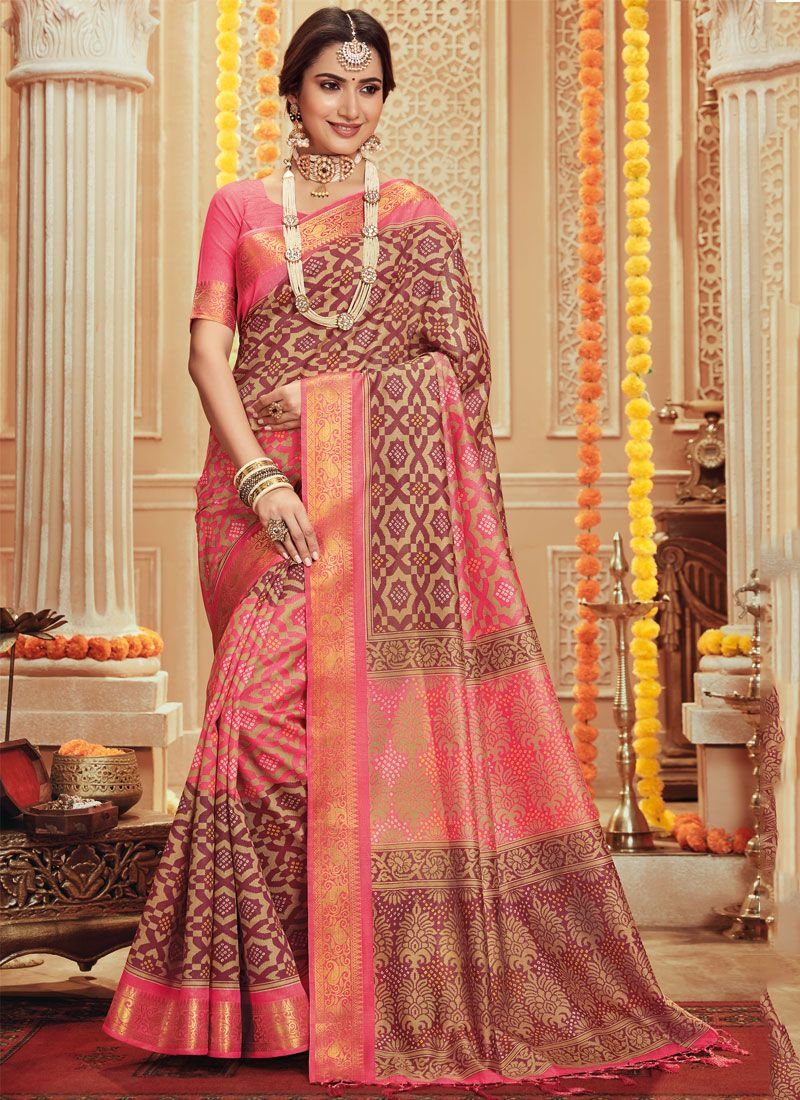 Traditional Designer Saree Woven Art Silk in Multi Colour