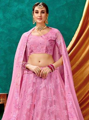 Trendy Long Choli Lehenga For Wedding