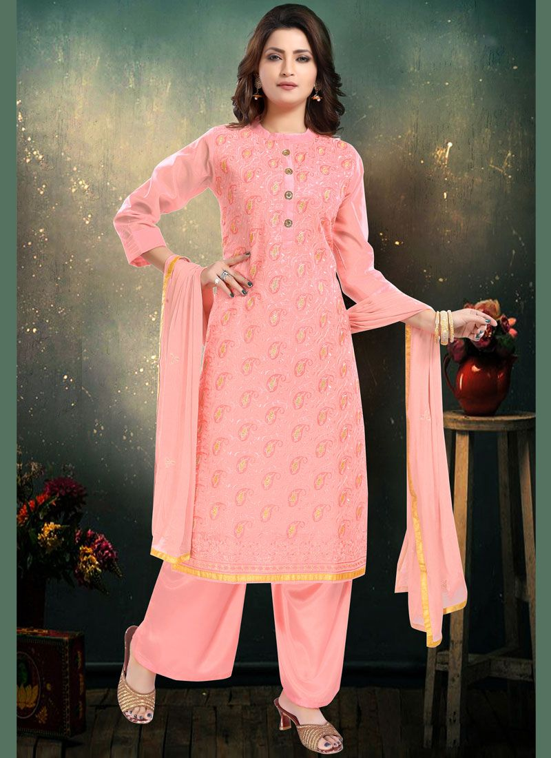 Trendy Palazzo Salwar Suit For Party