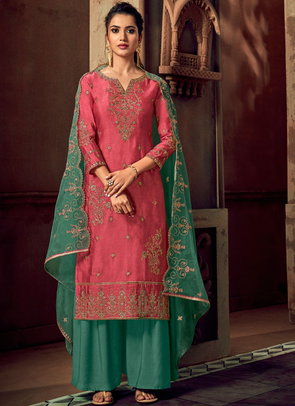 Trendy Palazzo Suit For Reception
