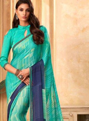 Turquoise Festival Designer Saree