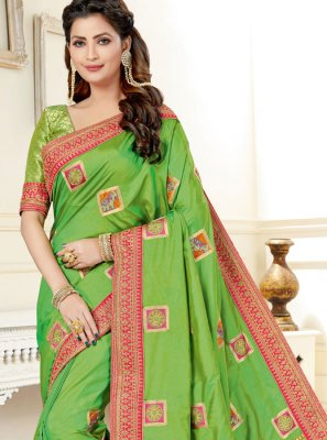 Uppada Silk Green Traditional Saree