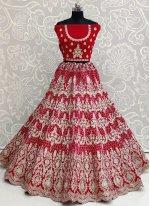 Velvet Pink Designer Lehenga Choli