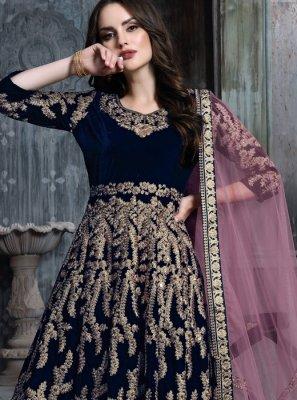Velvet Resham Anarkali Salwar Kameez