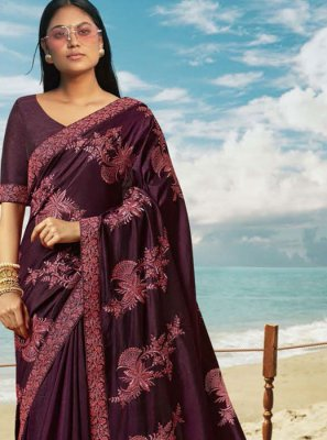 Violet Ceremonial Classic Saree