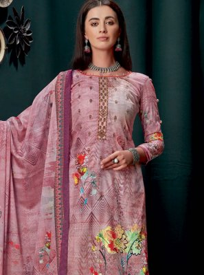 Violet Georgette Party Designer Palazzo Suit