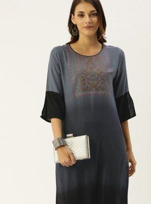 Viscose Embroidered Designer Kurti