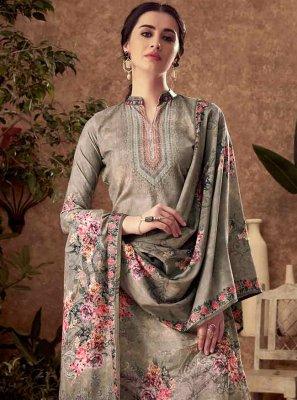 Viscose Grey Digital Print Trendy Salwar Kameez