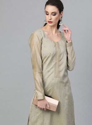 Viscose Grey Plain Pant Style Suit
