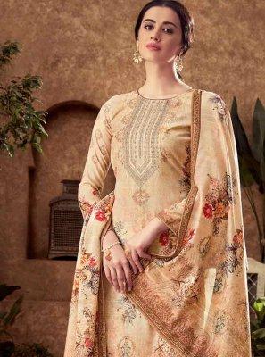 Viscose Palazzo Designer Salwar Suit in Brown