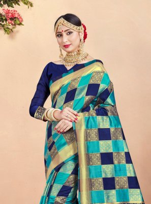 Weaving Art Banarasi Silk Classic Designer Saree