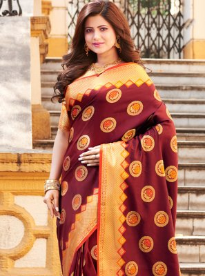 Weaving Art Banarasi Silk Traditional Saree